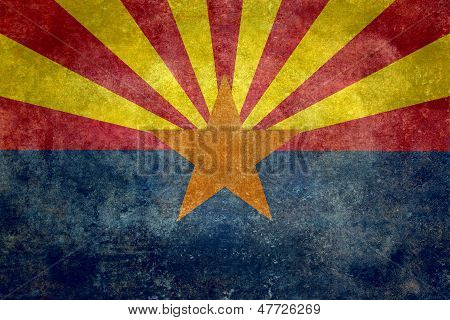 Arizona State Flag - with distressed treatment