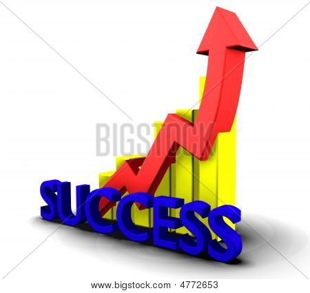 Statistics Graphic With Success Word