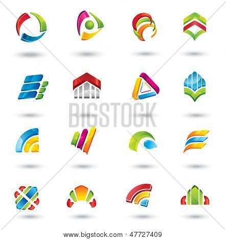 Design elements. Collection with icons for abstract logo.