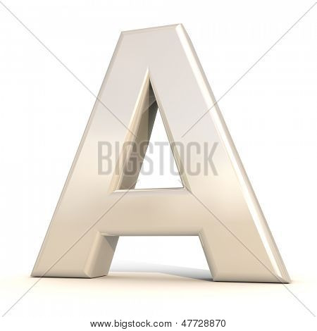 3D alfabeto, letra A, isolado no fundo branco