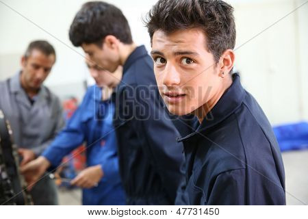 Portrait of student in auto mechanics