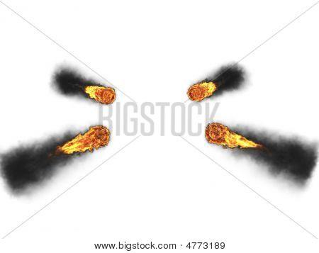 3D Fire Balls