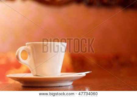 cup of coffee in vip room