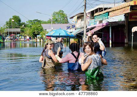 The Worst Flooding In  Nakhon Pathom, Thailand