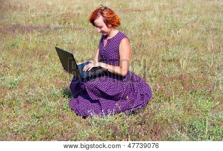 Old-fashioned Eccentric Woman With Notebook