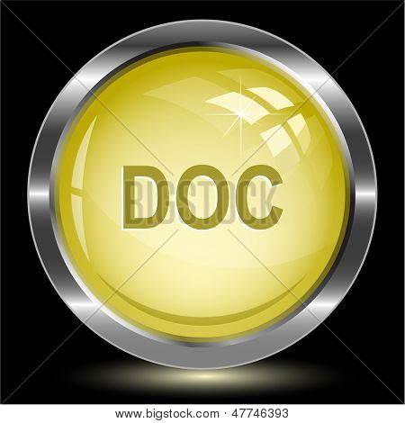 Doc. Internet button. Vector illustration.
