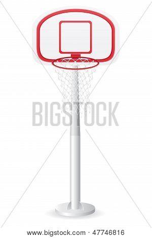 Basketball Backboard Vector Illustration