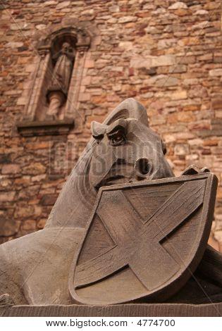 Scottish National War Memorial Unicorn And Saltire