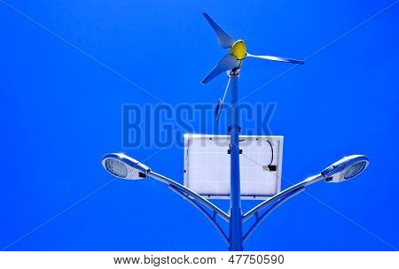 Solar Cell And Windmill