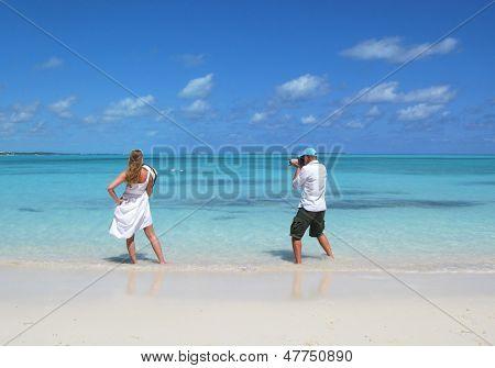 Photoshooting. Exuma, Bahamas