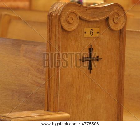 Wooden Church Pew