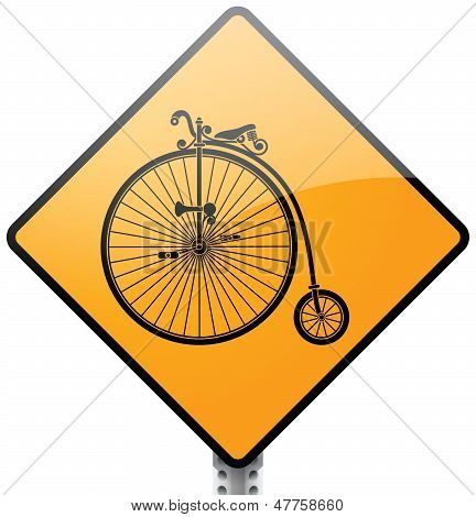 Retro Bicycle Sign