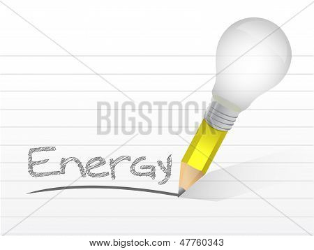 Energy Light Bulb Pencil Concept Illustration
