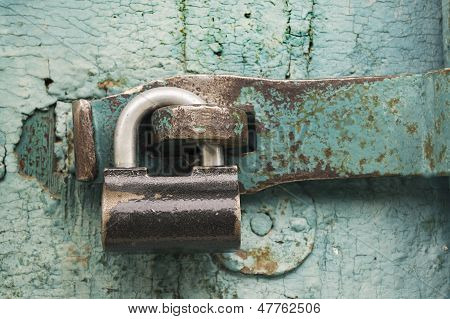 Strong Lock On Old Door
