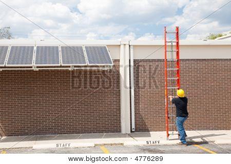Repairman And Ladder