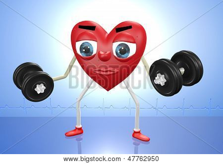 Heart Character With Weights