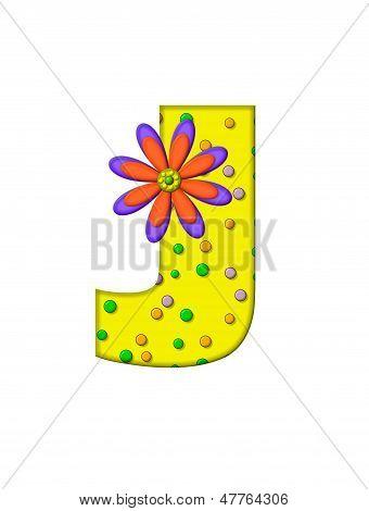 Alphabet Zany Dots J