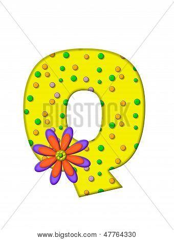 Alphabet Zany Dots Q