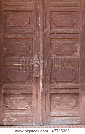 Old wooden mission door.