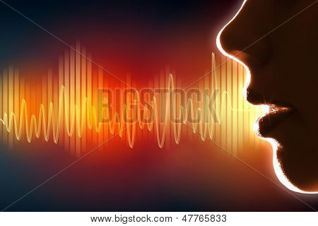 Equalizer sound wave background theme. Colour illustration.