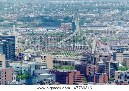 Aerial View Of Central Boston