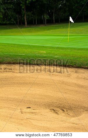 Challenging Shot Of Golf Course