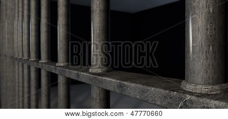Jail Cell Bars Extreme Closeup
