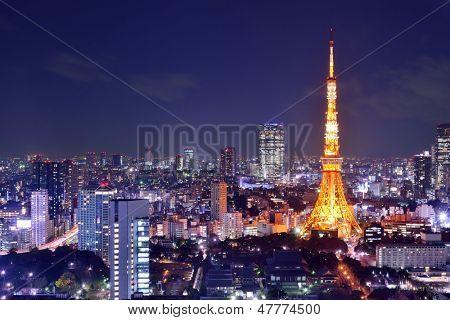 Landmark Tokyo Tower in Tokyo, Japan.