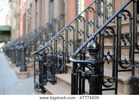 Brownstone Apartment steps in the Chelsea neighborhood of New York City.