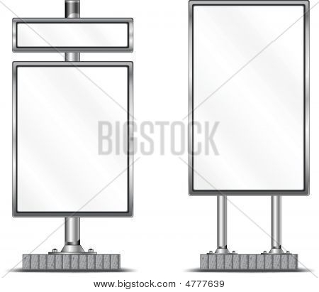 Blank Vertical Billboard
