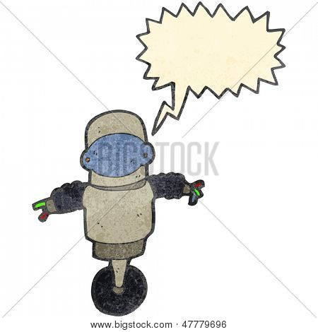 ciborgue de robô retrô dos desenhos animados