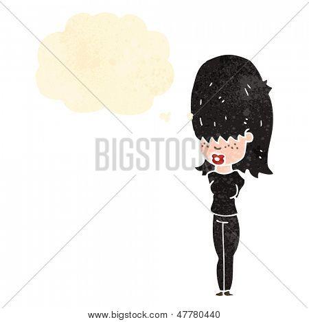 retro cartoon goth girl