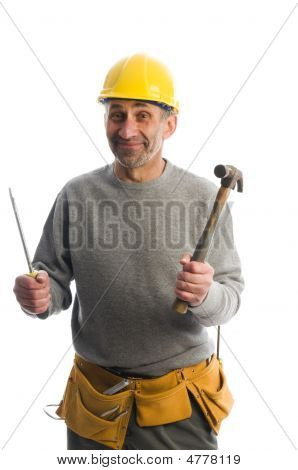 Contractor With Tools