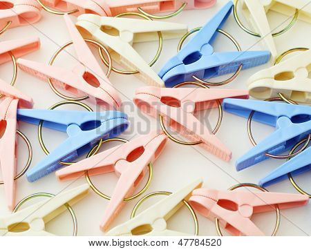 Heap of colorful clothespin