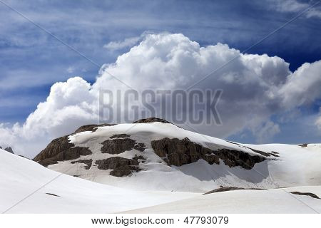 Rocks With Snow Cornice