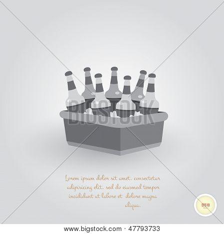 Fridge with beer