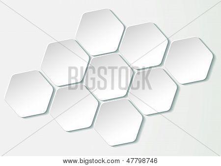 Nine Honeycomb Hexagon Paper Labels