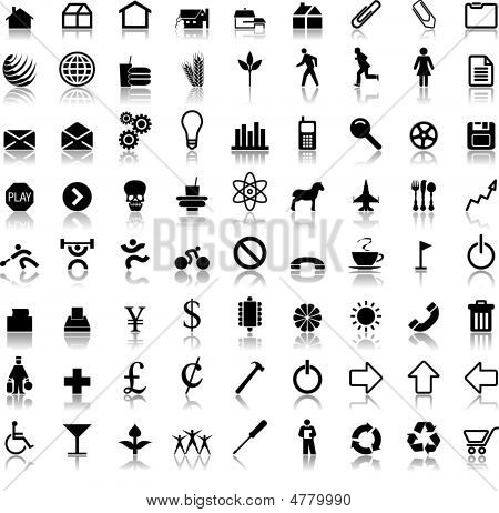 Seventy Two Vector Icon Symbols