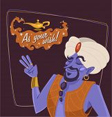 foto of genie  - The genie of the lamp - JPG