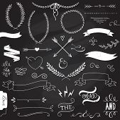 stock photo of arrow  - Wedding graphic set - JPG