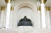 stock photo of bator  - statue of Genghis Khan - JPG