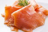 stock photo of blubber  - smoked salmon - JPG