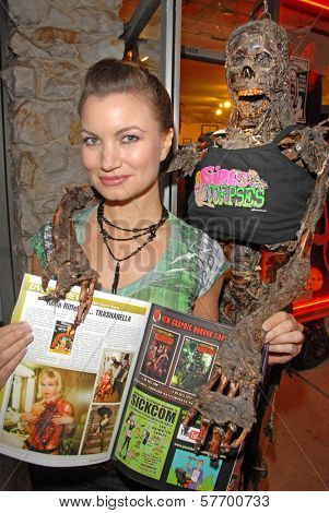 Rena Riffel at the Magazine release party for GIRLS AND CORPSES, Vol. 3, Hyaena Gallery, Burbank, CA. 08-15-09