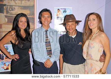 Lisa Solomon, Tony Young, Clinton H. Wallace and Kerri Kasem at the dual screenings of