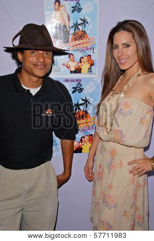 Clinton H. Wallace and Kerri Kasem at the dual screenings of
