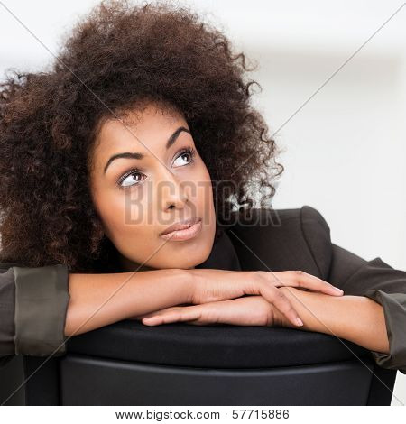 Pensive African American Businesswoman