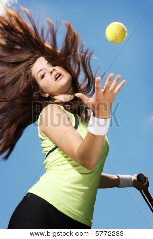 Woman Playing Tennis