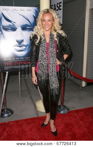 Lauren C. Mayhew  at the Los Angeles Premiere of 'The Informers'. Arclight Theater, Hollywood, CA. 04-16-09