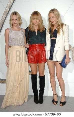 Kate Bosworth with Hannah MacGibbon and Chloe Sevigny  at the Chloe Los Angeles Boutique Opening Celebration. Milk Studios, Los Angeles, CA. 04-23-09