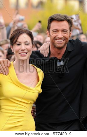 Lynn Collins and Hugh Jackman at the United States Premiere of 'X-Men Origins Wolverine'. Harkins Theatres, Tempe, AZ. 04-27-09